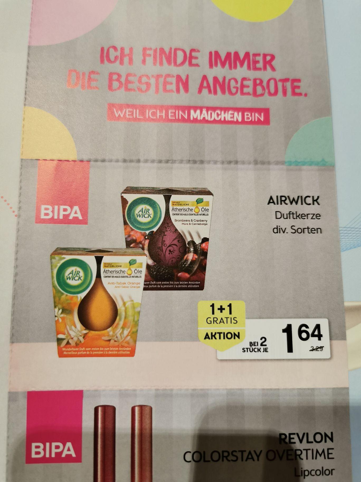 Air wick Duft Kerzen 1+1 gratis mit Gutschein