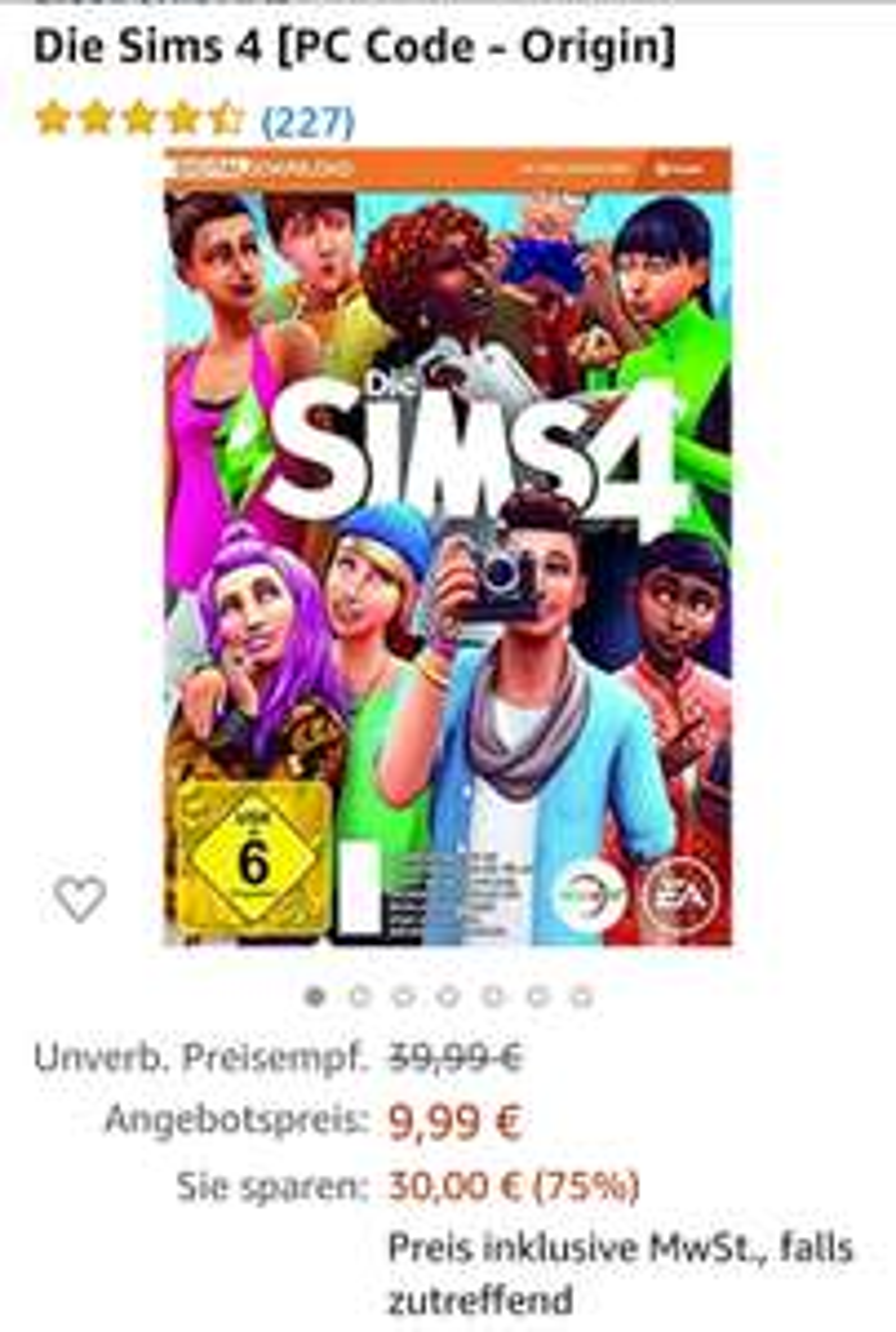 Sims 4- Orgin Code (Basis-Spiel)