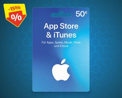 Apple iTunes Karten - 50 € um 42,50 € // 25 € um 22,50 € - ab 20.1.2020