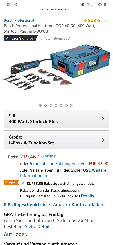 Bosch Professional Multitool GOP 40-30