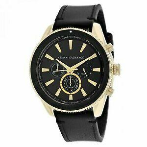 Armani Exchange Herren Analog Quarz Uhr mit Leder Armband AX1818