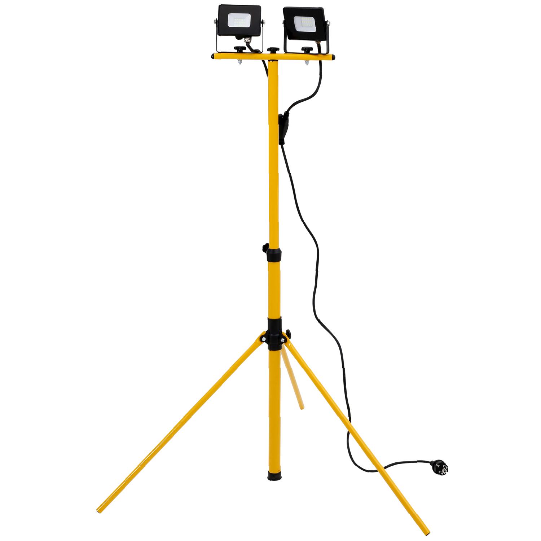 Werckmann LED-Flutlichtstrahler 2 X 15 Watt mit Stativ, 1.200 Lumen