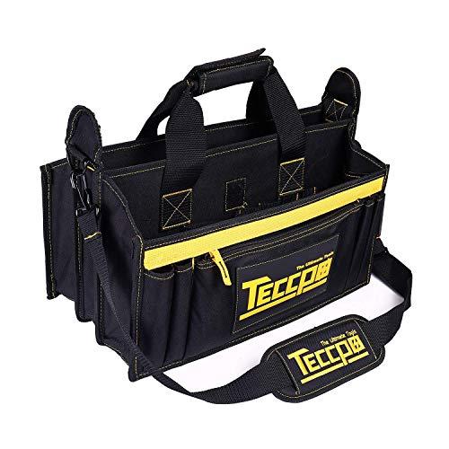 Werkzeugtasche 43x 29 x 20cm, Verstellbarer Schultergurt, 9 Außentaschen und 7 Innentaschen