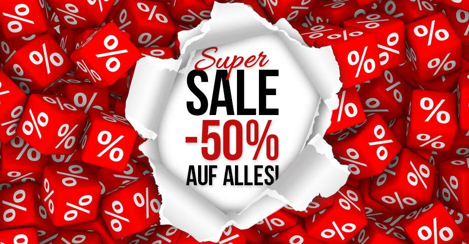 -50% auf alles im Weekend Shop
