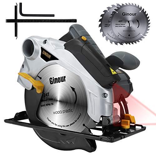 Ginour Professional Handkreissäge mit Laser