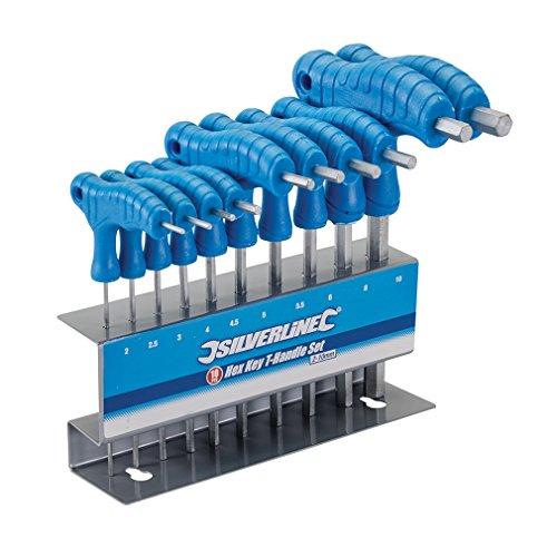 Silverline Innensechskant-Stiftschlüssel mit Quergriffen (10-tlg. 2–10 mm)