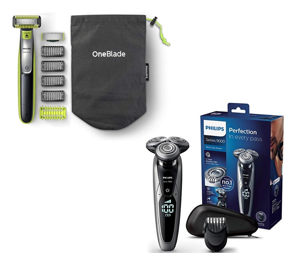 Philips Series 9000 Herrenrasierer + Philips OneBlade QP2630/30
