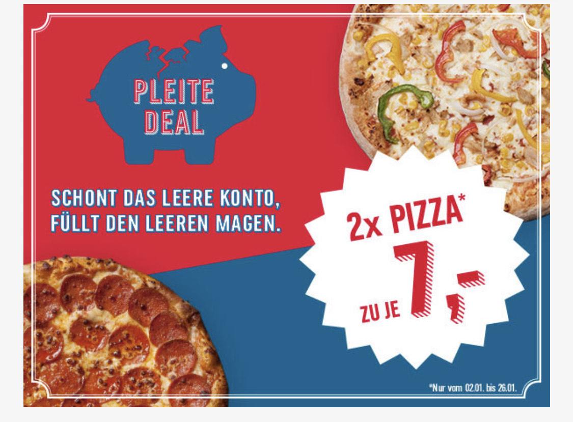 Dominos Pizza 1+1 Aktion