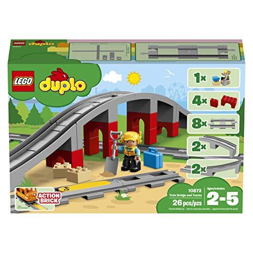 LEGO DUPLO Eisenbahnbrücke und Schienen 10872 Konstruktionsspielzeug