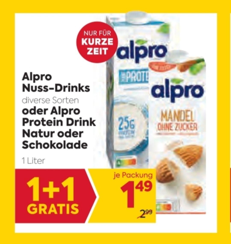 [Billa] Alpro Nussdrinks div. Sorten 1+1 gratis & € 0,40 Marktguru-CB-Option