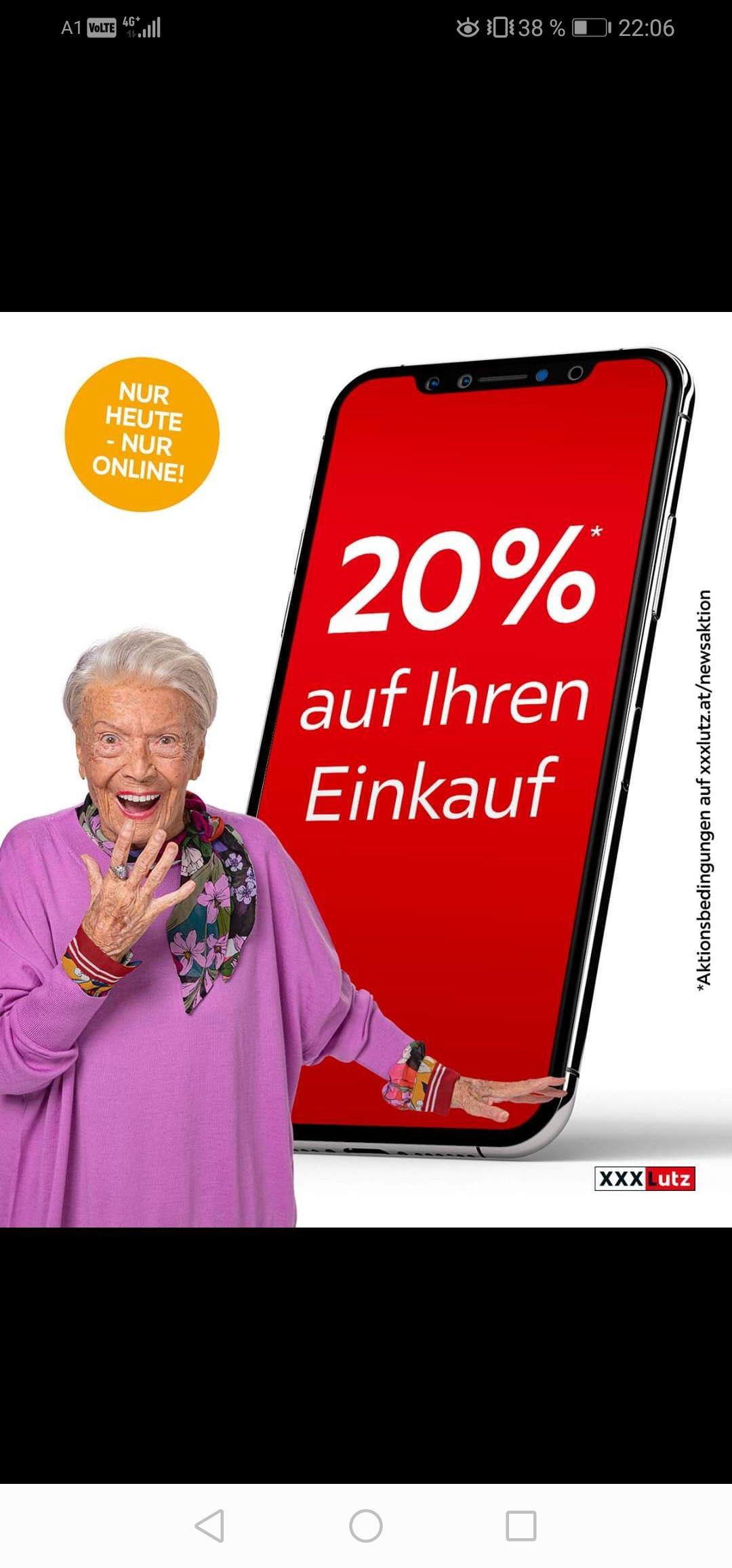 20%* im xxxlutz online Shop