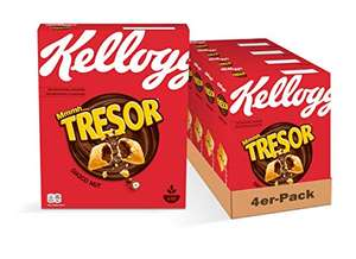 Kellogg Tresor Choco Nut, 4er Pack (4 x 375 g)