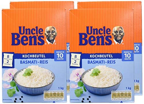 Uncle Ben's Basmati Reis, 10 Minuten Kochbeutel, 12 Packungen (12 x 1000g )