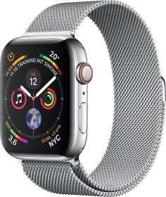 Apple Watch Series 4 (GPS+Cell) Edelstahl 44mm mit Milanaise-Armband