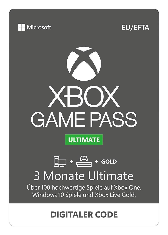 Xbox Game Pass Ultimate 6 Monate und für 3 Monate nur zahlen
