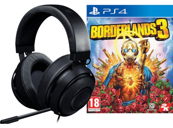 (Abholung) RAZER PS4 Kraken Pro V2 for Console Gaming Headset + Borderlands 3