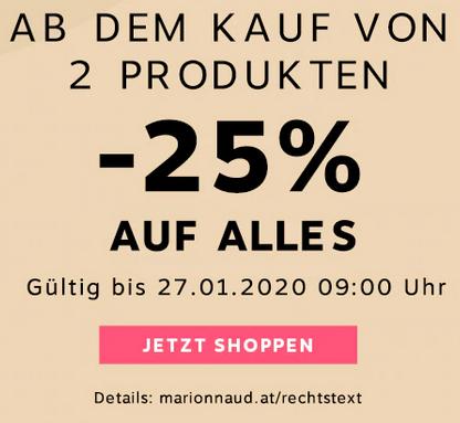 Marionnaud - 25% Rabatt auf Alles (ab 2 Produkten) - bis 27.1.2020