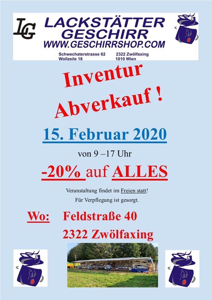 Inventur Abverkauf -20%