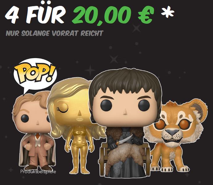[GamestopShop] 4 Funko Pop Figuren nach Wahl um 20 Euro