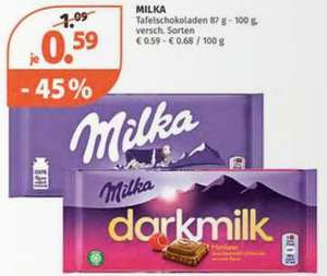 Milka Schokolade 100g verschiedene Sorten
