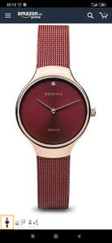 Damen Analog Quarz Uhr mit Edelstahl Armband 13326-Charity