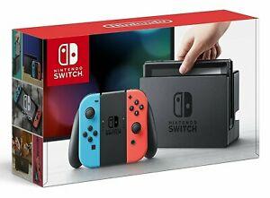 Nintendo Switch Konsole 2019 in Schwarz oder Rot/Blau