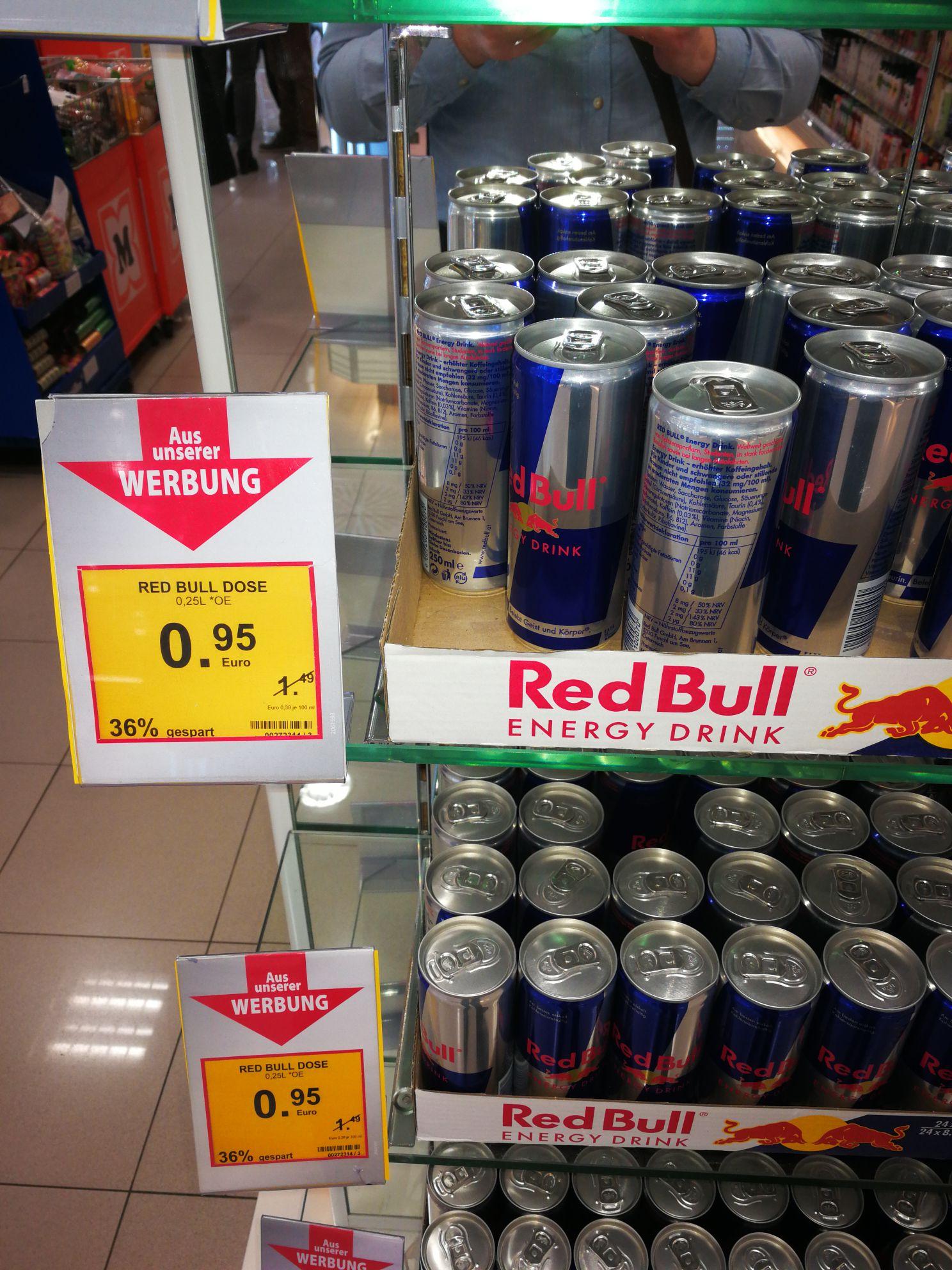 Red Bull Dose im 0.95€ - Müller