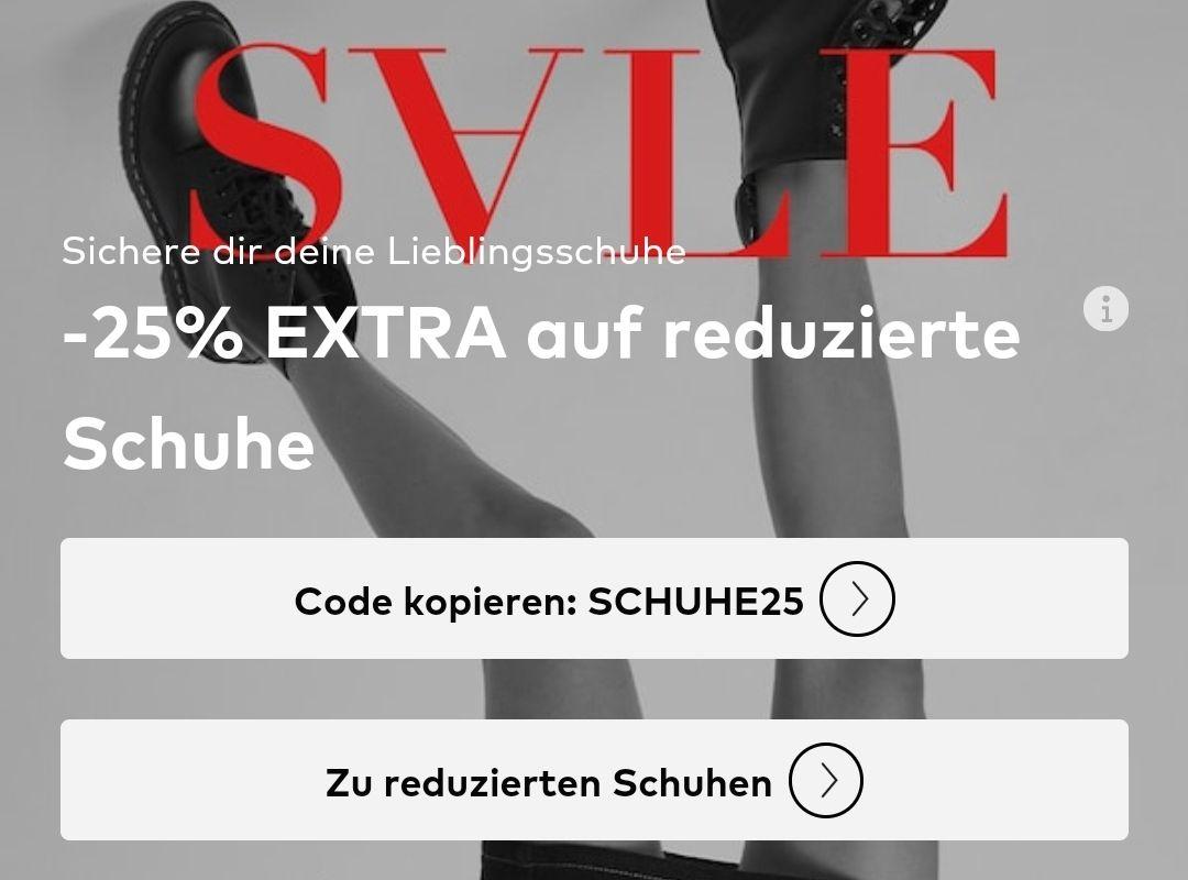 About You: 25% Zusatzrabatt auf Schuhe im Sale - ab 75 € MBW