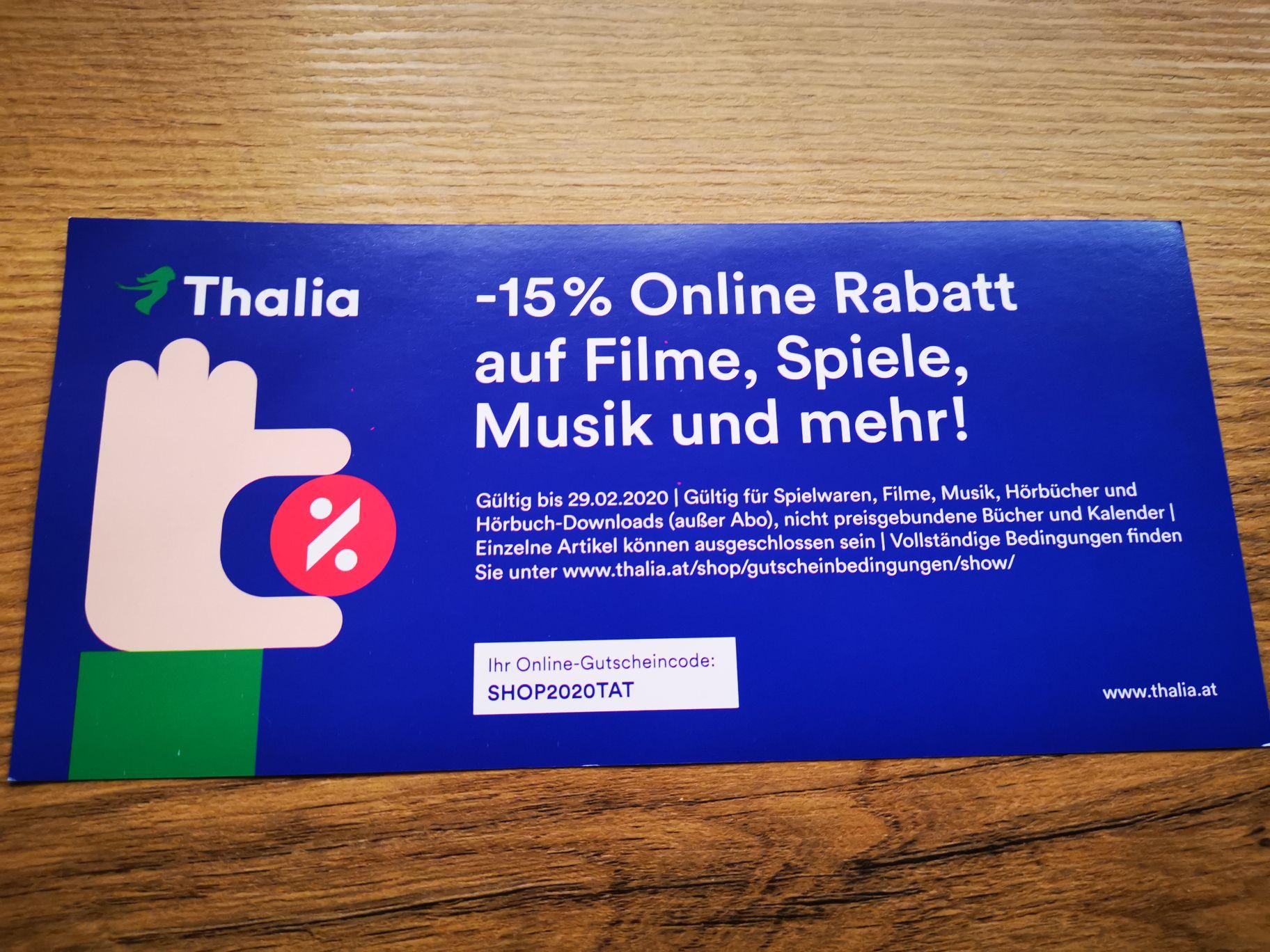 Thalia 15% Online Rabatt