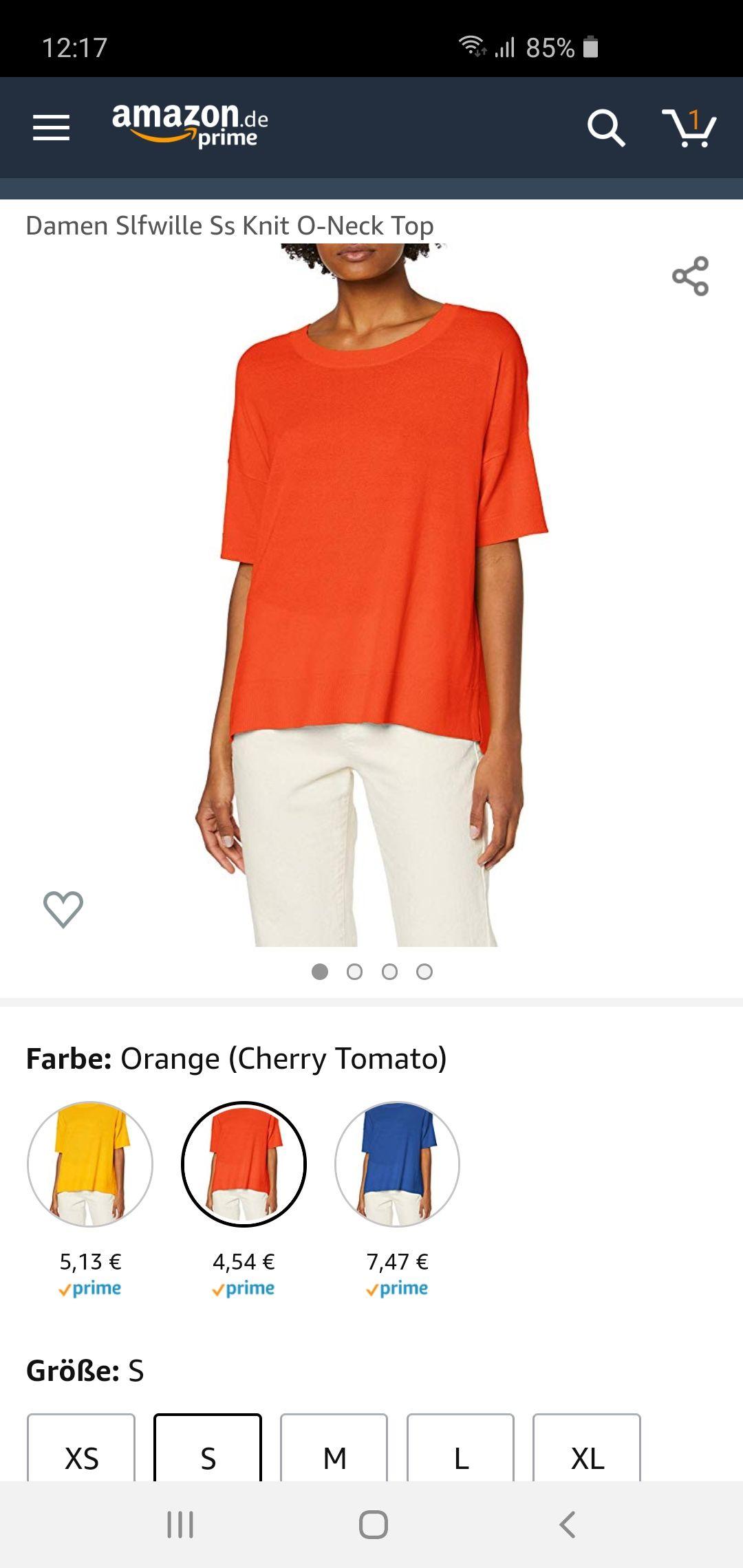 Lässiges Damen Shirt in Orange Gr.S