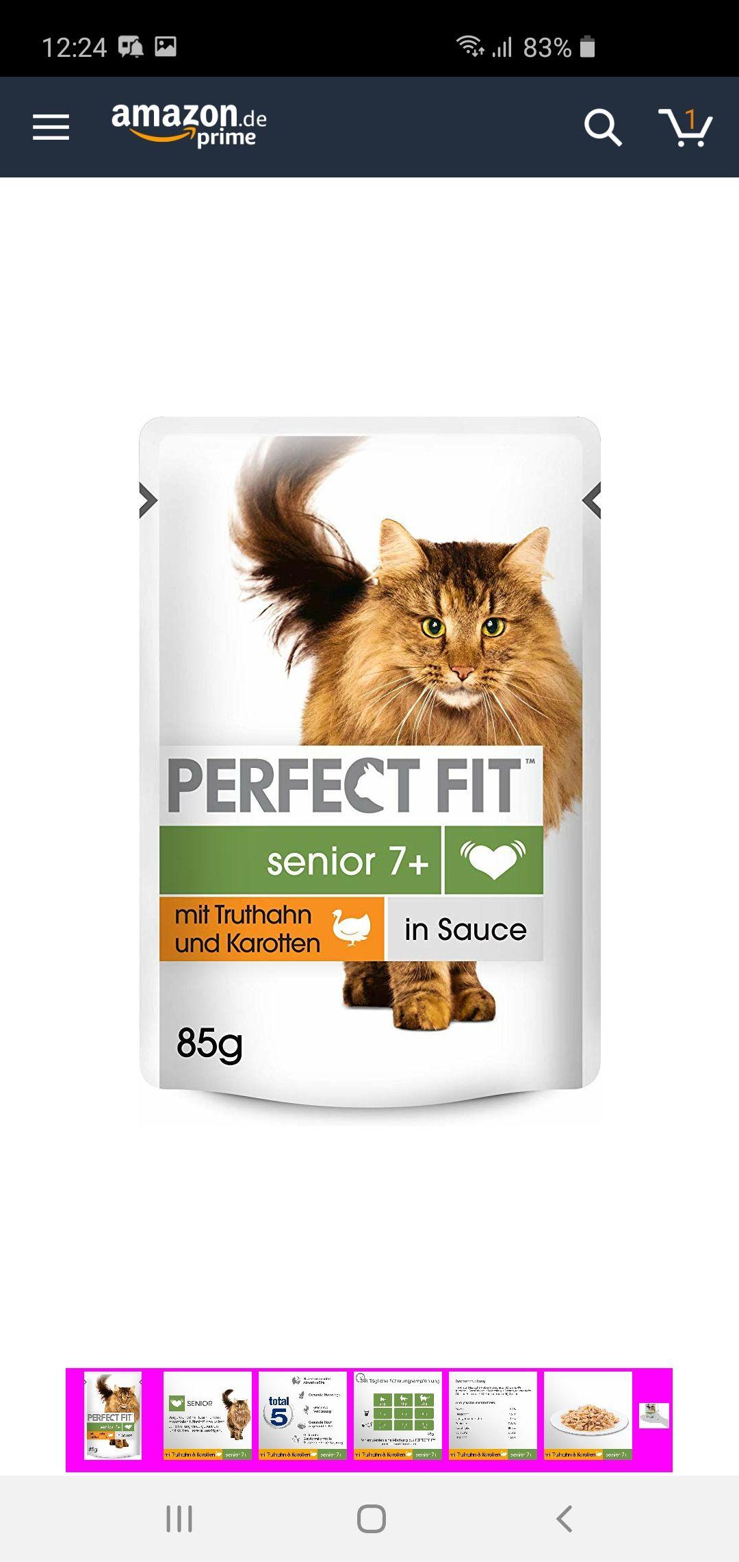 Perfect Fit Katzenfutter nass 12x 85g (Pantrybox) verschiedene Sorten