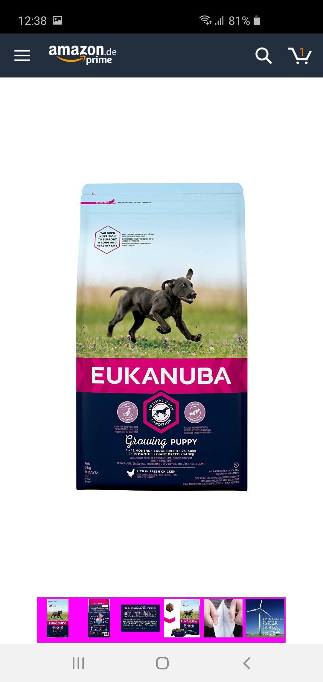 Eukanuba Welpenfutter trocken 3kg