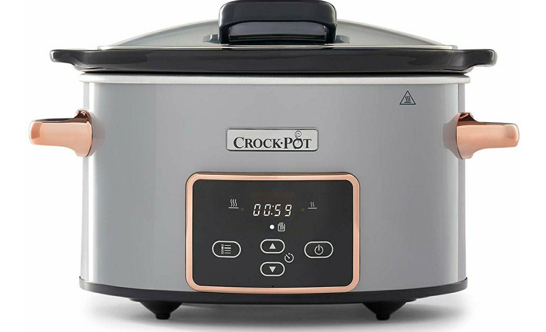 Crockpot Crock-Pot CSC059X Digitaler Lift-&-Serve-Schongarer mit 3,5 L Fassungsvermögen, Silber & Roségold