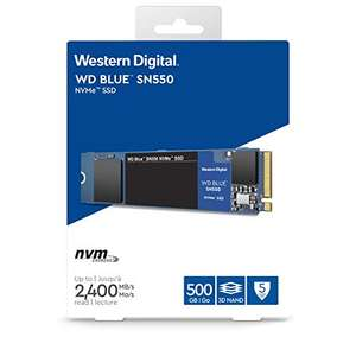 Western Digital WD Blue SN550 NVMe SSD 500GB mit bis zu 2.400 MB/s