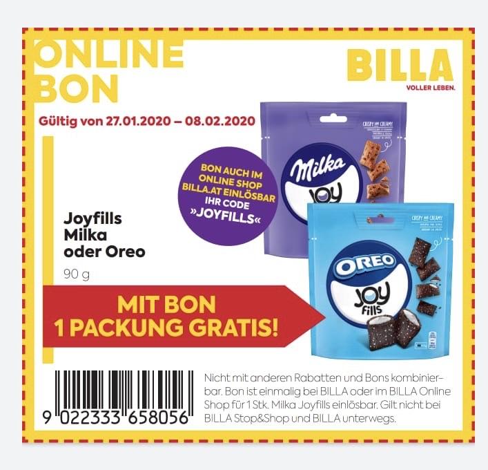 [BILLA] GRATIS Milka oder Oreo Joyfills 90g