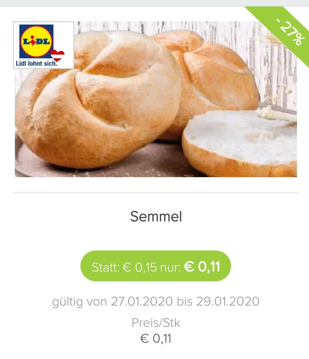 Lidl-Filialen in Österreich: Semmel aus österreichischem Mehl um 0,11€