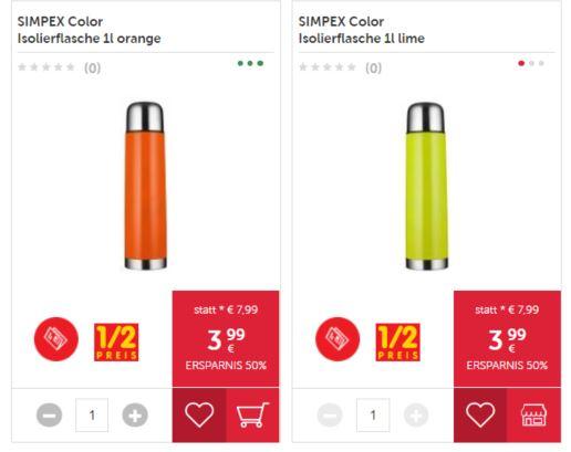 SIMPEX Color Isolierflasche 1l orange/neon