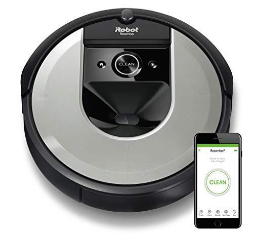 iRobot Roomba i7 (i7156) Saugroboter, 3-stufiges Reinigungssystem, intelligente Raumerfassung, Zeitplanreinigung, 2 Multibodenbürsten