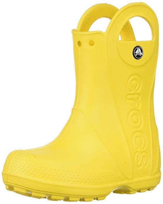 crocs Unisex Kinder Handle It Rain Boot in 23/24, 24/25, 25/26, Pink in 27/28