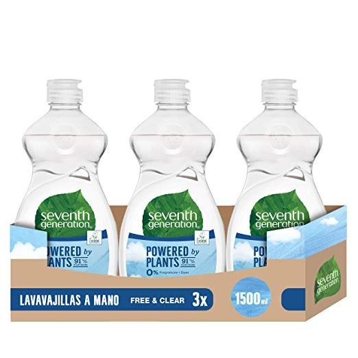Seventh Generation Free & Clear Spülmittel, 3 x 500 ml