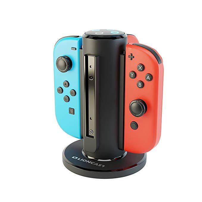 Lioncast Joy-Con Quad-Charger für Nintendo Switch, Controller Ladestation