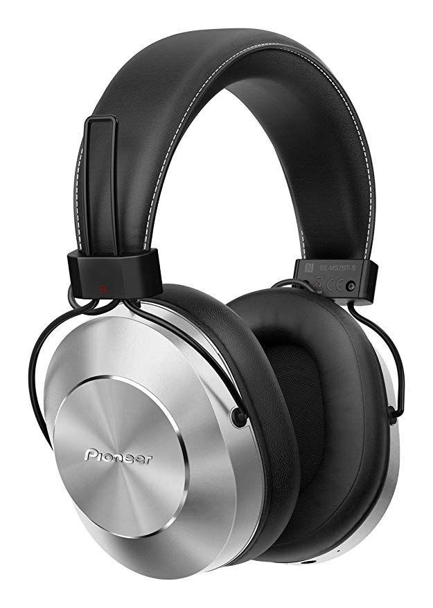 Pioneer SE-MS7BT(S) Bluetooth Over-Ear Kopfhörer (Mikrofon, High-Res Audio, NFC, 12 Stunden Wiedergabe)