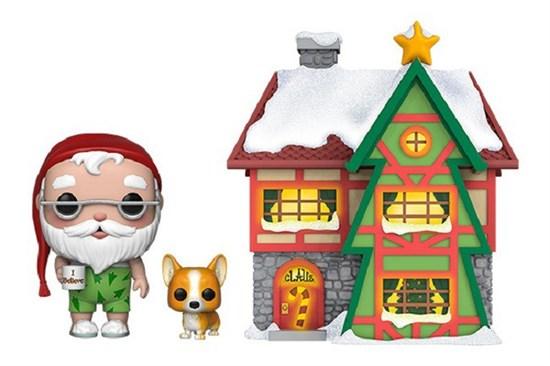 [AntizyklischerPJ] POP!-Vinyl Figur Santa mit Haus und Nutmeg