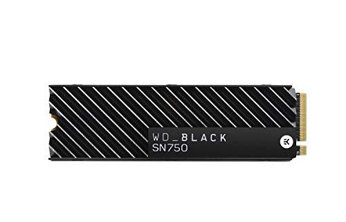 M.2 Western Digital WD Black SN750 NVMe SSD mit Heatsink interne Festplatte 2 TB