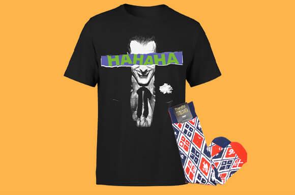 Joker Shirt und Harley Quinn Socken