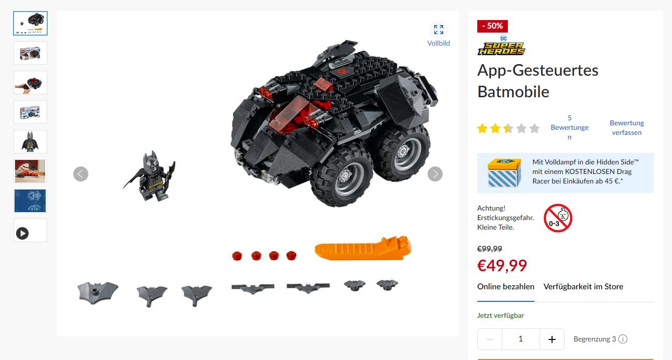 LEGO App-Gesteuertes Batmobile #76112
