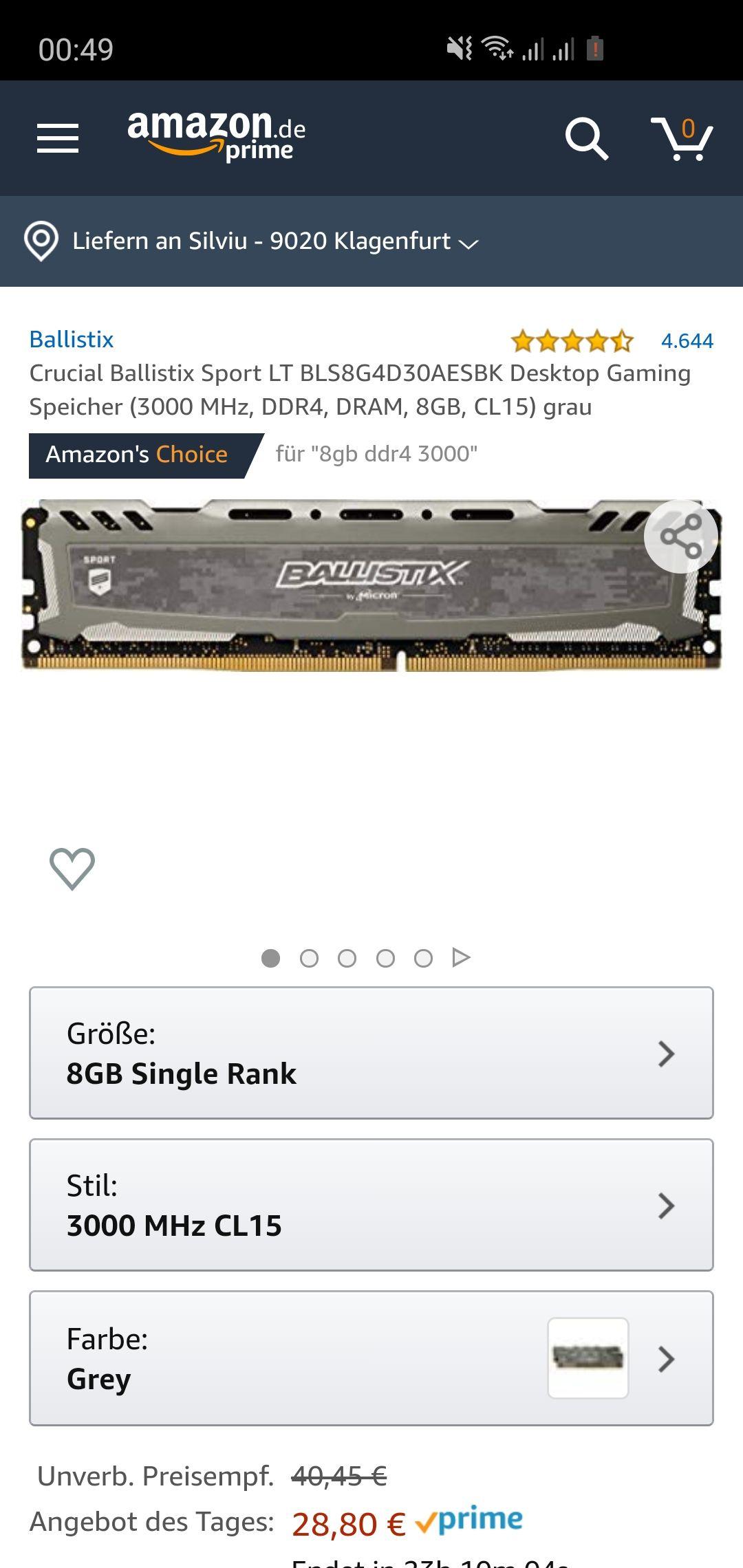 8 GB RAM DDR4 super Preis!!!