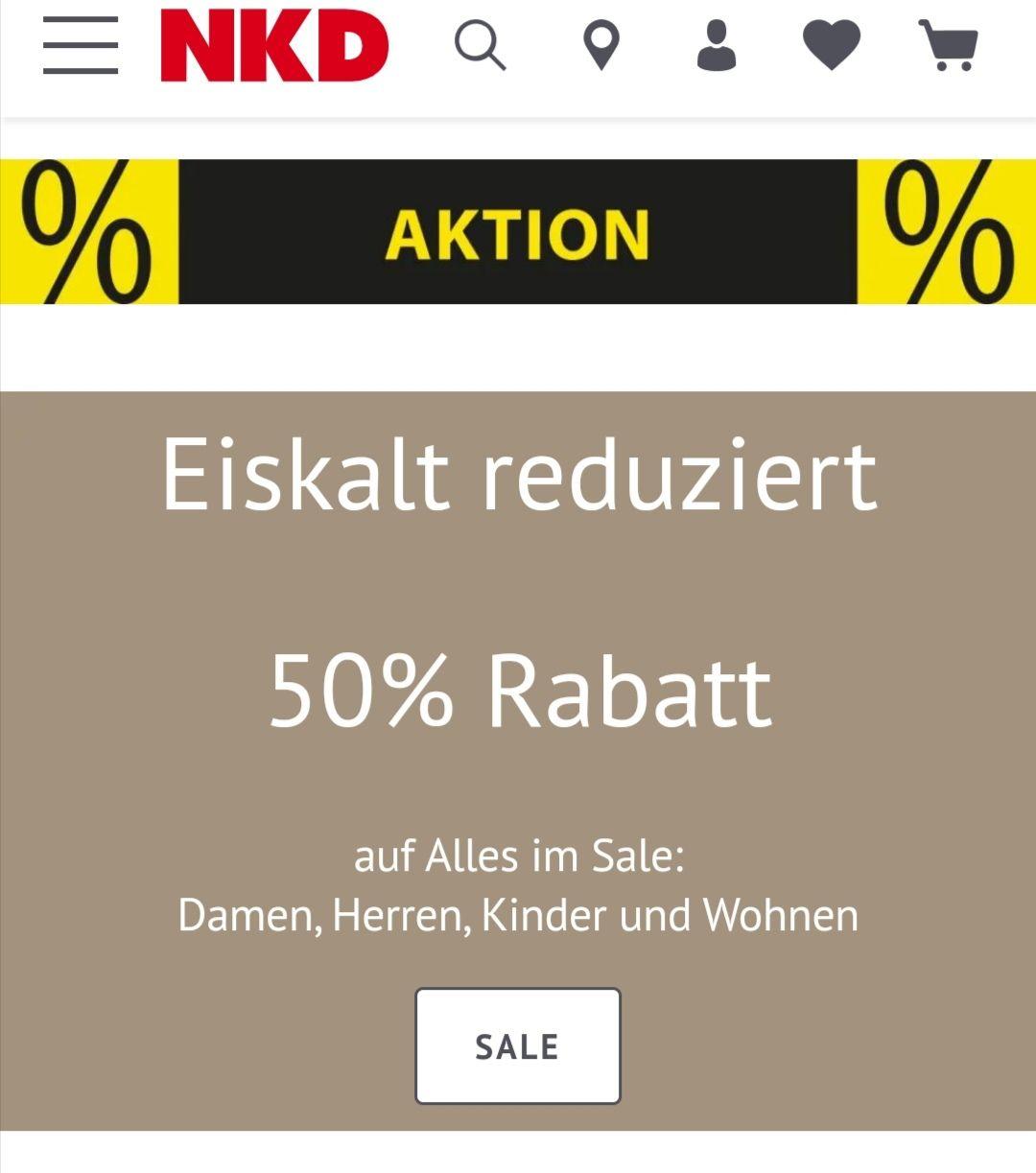 [NKD] - 50% auf Sale Artikel Online & Offline