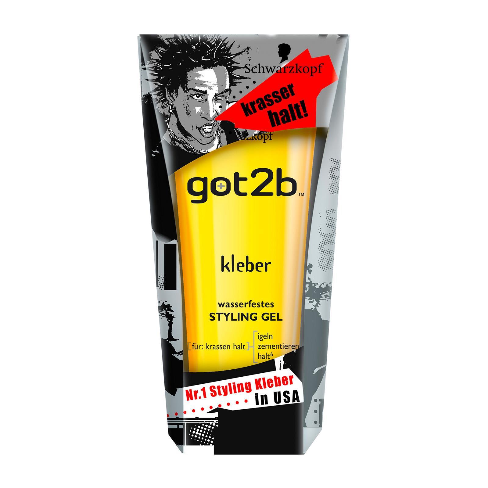 AMAZON.de l Schwarzkopf got2b Gel kleber wasserfestes Styling, 4er Pack Spar-Abo € 12,85