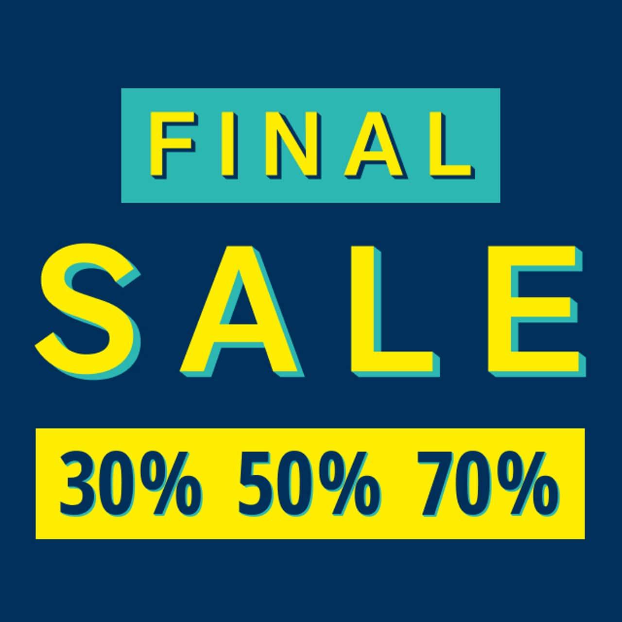 Peek & Cloppenburg: FINAL SALE 30% 50% 70%